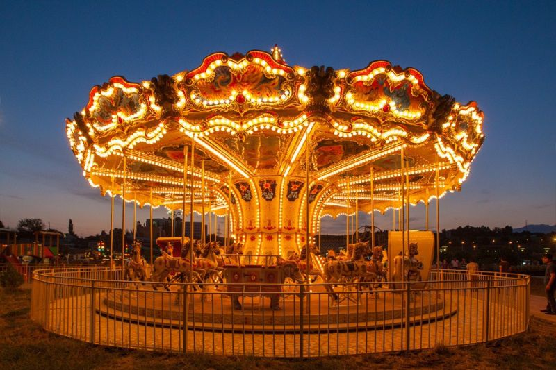 Carousel 10 at night